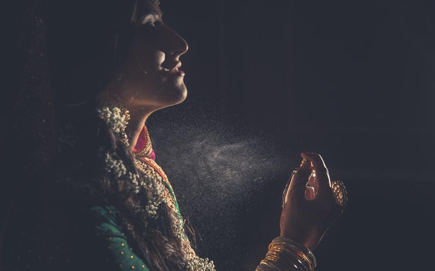 Pakistani Bride getting ready