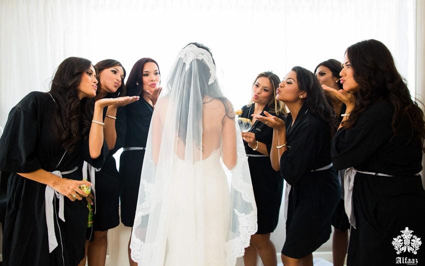 Toronto's columbian wedding