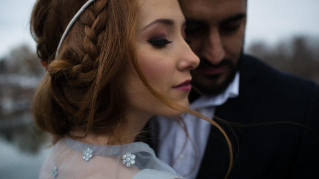Bohemian winter brides in Canada