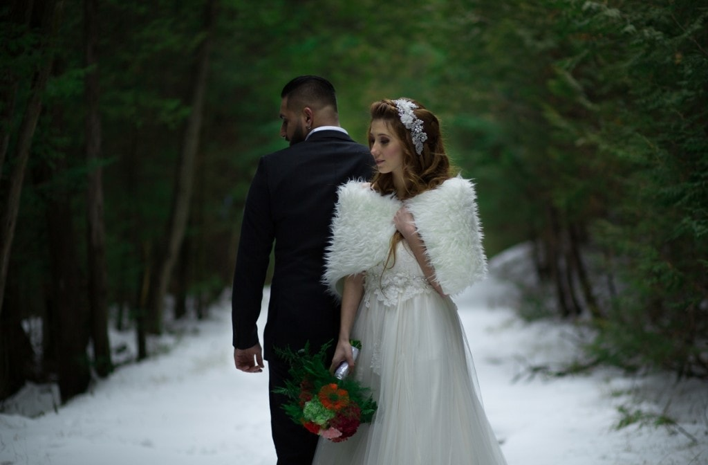 Winter weddings in Canada