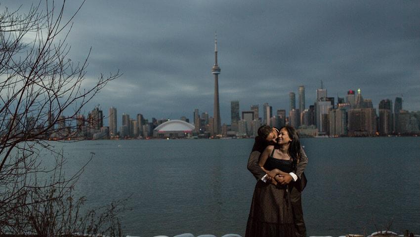 Toronto Islands Engagement Photo