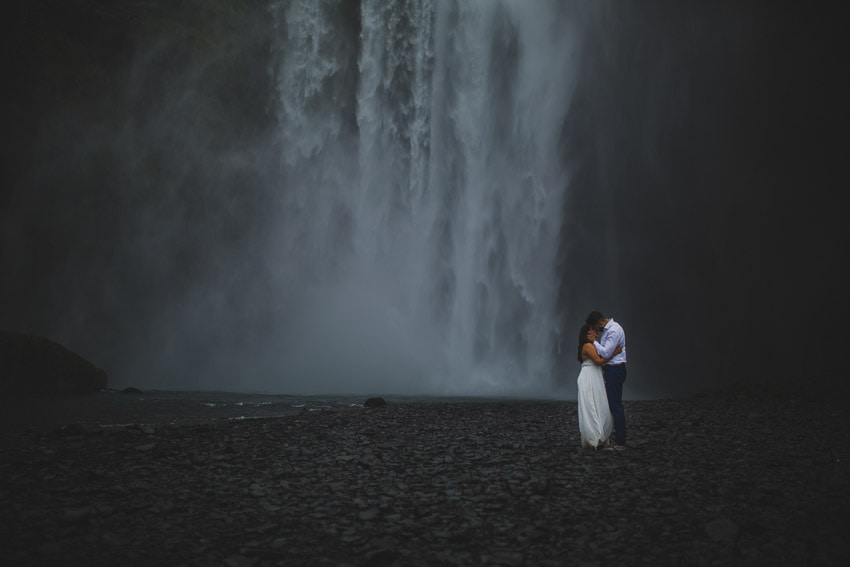 Destination wedding photographer - Waterfalls in Iceland