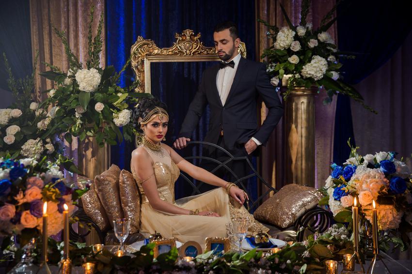 floral-golden-wedding-setup