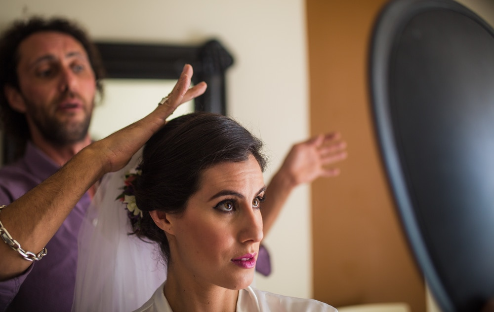 Makeup-Artist-getting-ready-Oasis Tulum Canadian Wedding