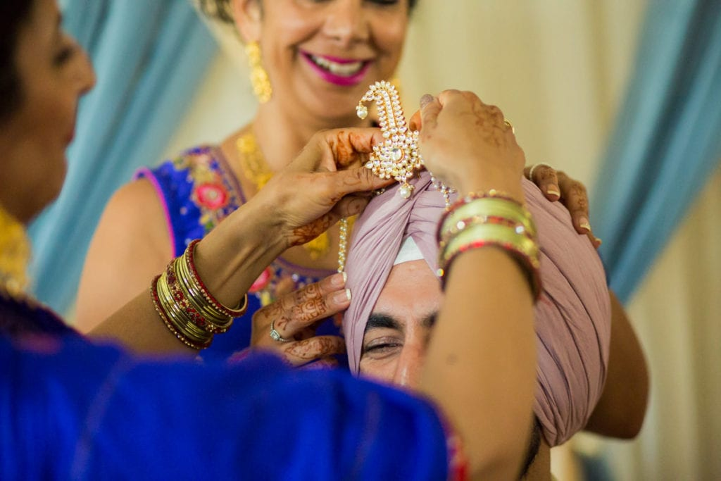 turban and kalgi sikh wedding