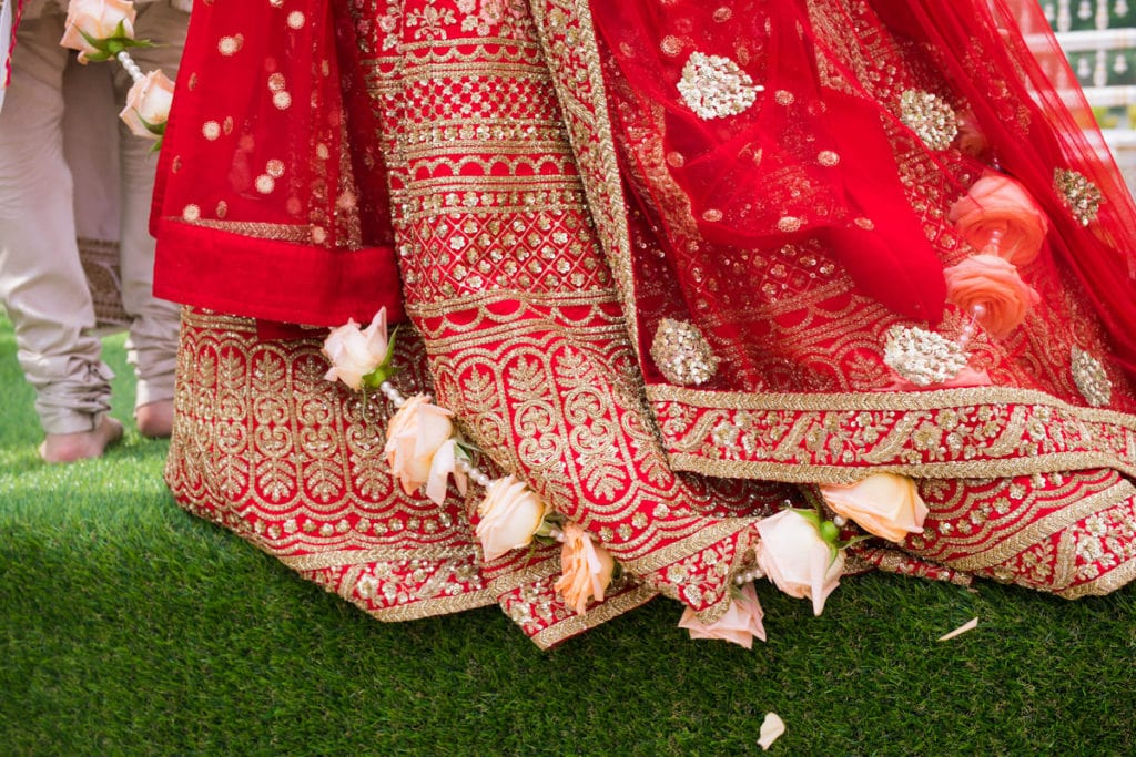 Red Sabyasachi bridal lehenga