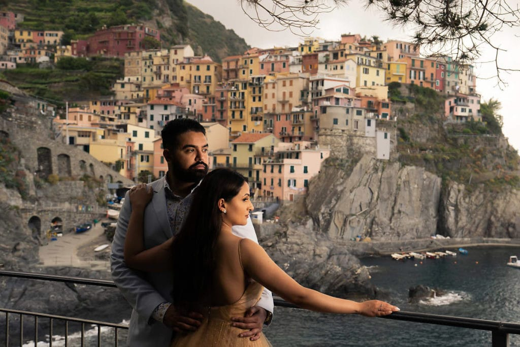 Couple photoshoot at Manorala, Cinque Terre.