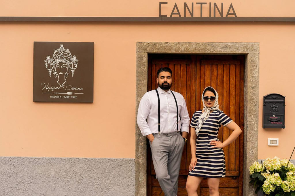 High fashion Vogue Italia inspire photoshoot in Cinque Terre, Italy.