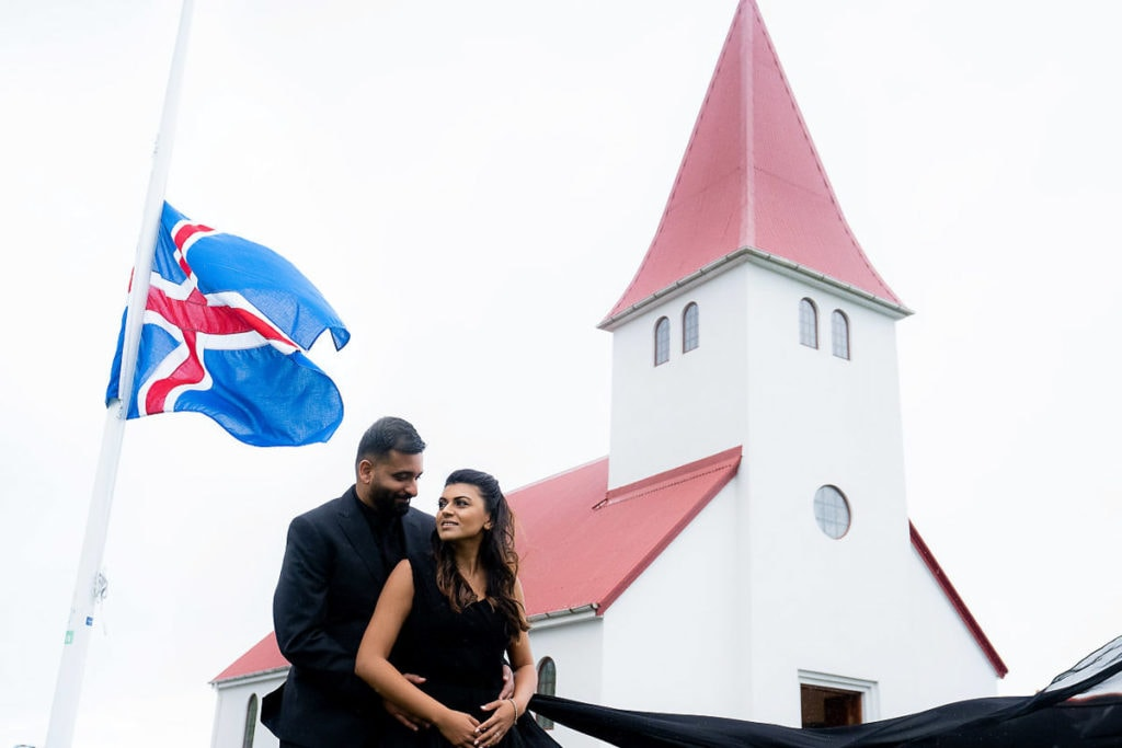 Couple photoshoot in Reykjavík, Iceland