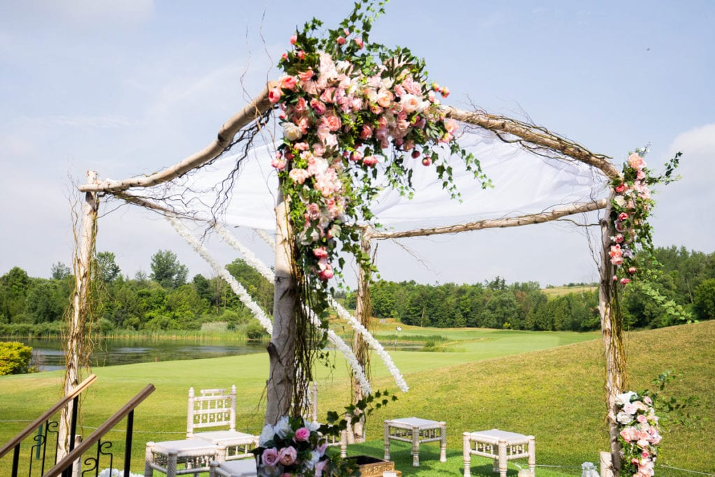 Gazebo mandap for outdoor Indian wedding