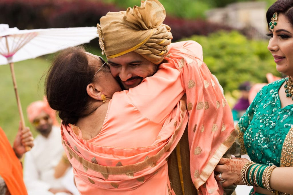 Indian groom's grandma gives her blessings