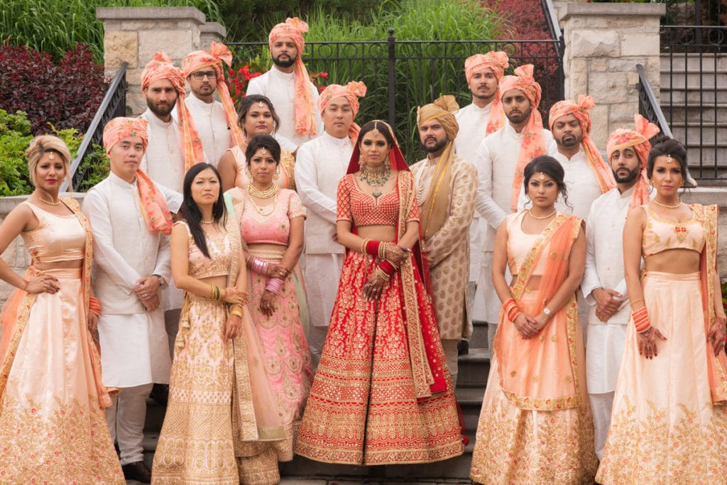 Indian bridal party portrait