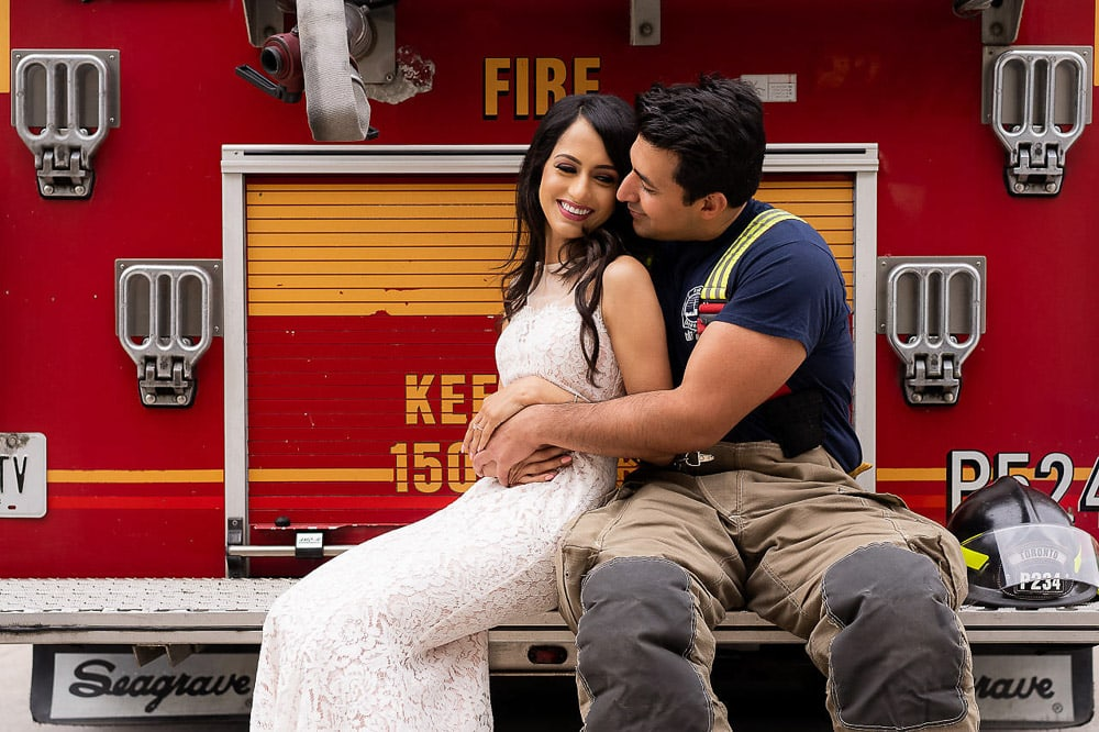 Indian Sikh Couple at Firehall Toronto