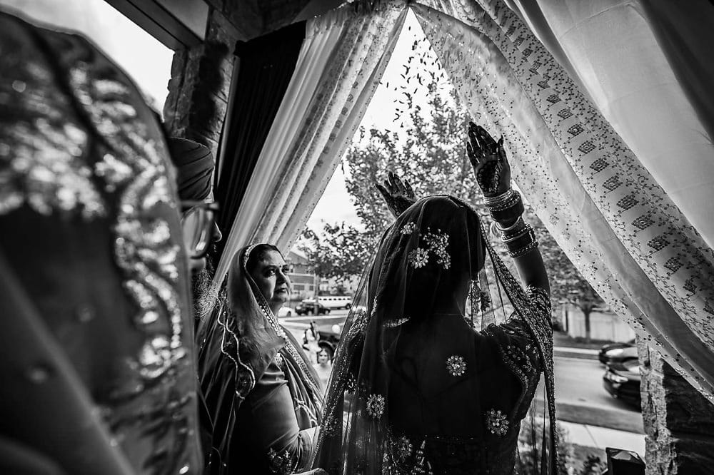 Indian Sikh bride's farewell ceremony Toronto Sikh Scarborough wedding
