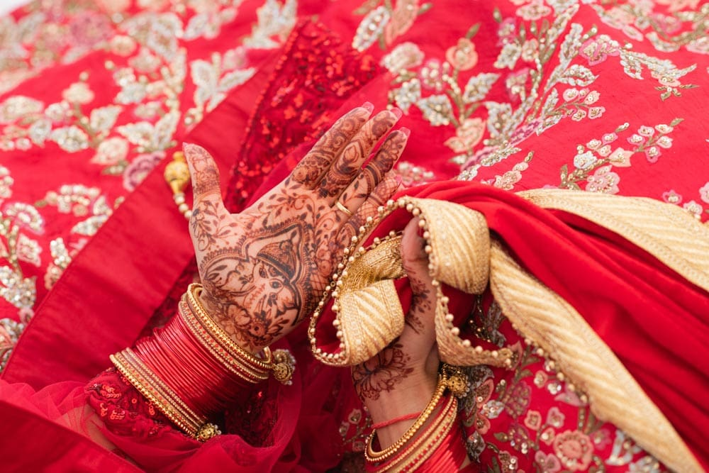 Moon Palace Sikh Hindu Indian Wedding in Cancun Mexico. Wedding Ceremony down south. Bridal Henna Mehendi.
