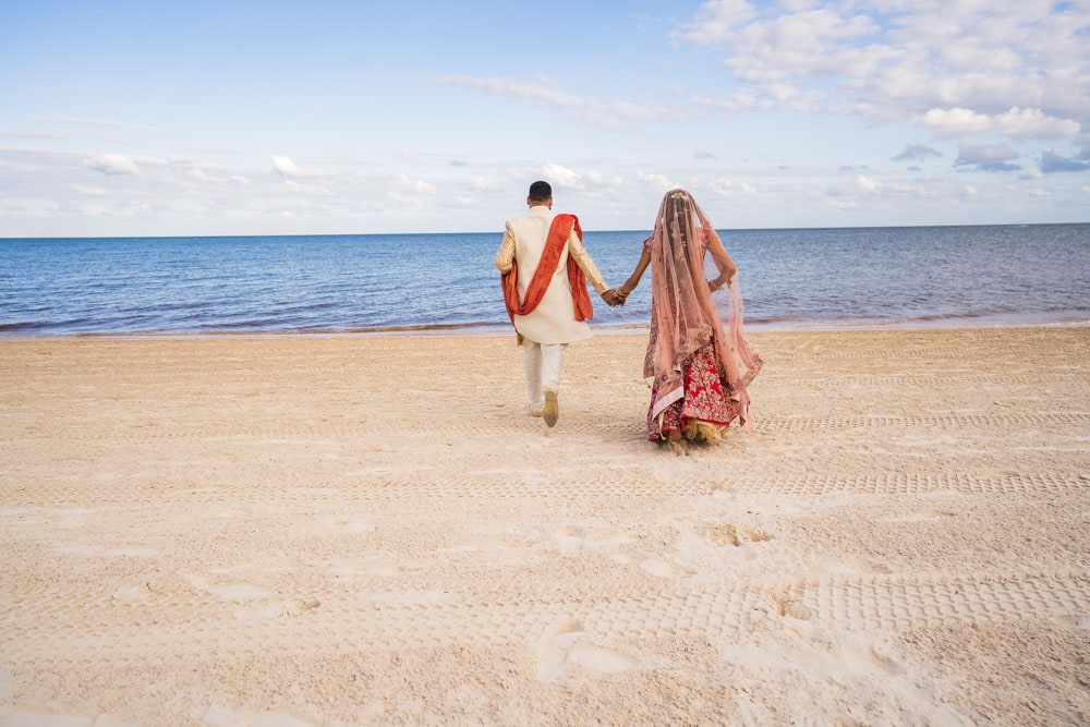 Moon Palace Sikh Hindu Indian Wedding in Cancun Mexico. Wedding Ceremony down south. Beach Wedding.