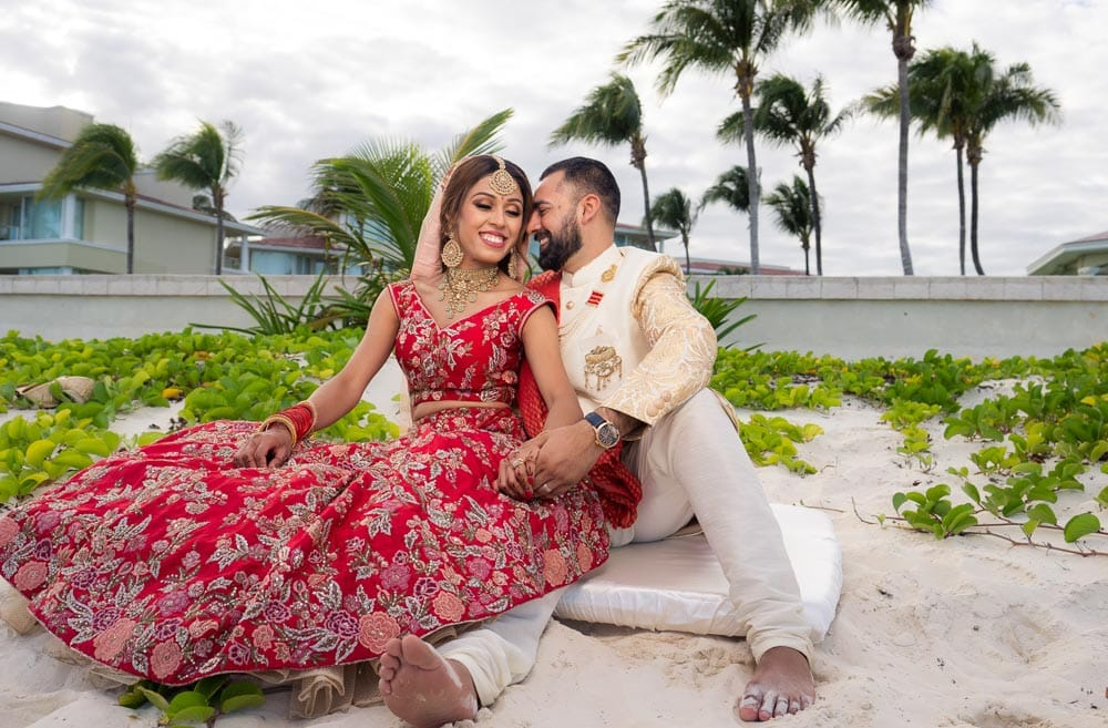 Beach Indian Wedding Photo