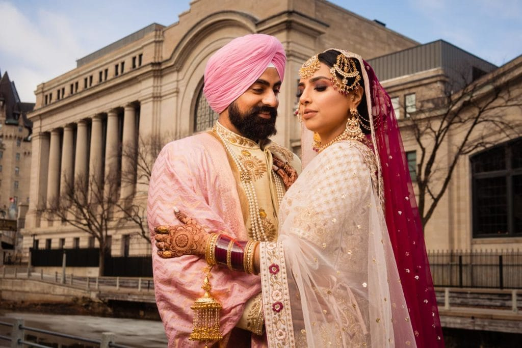 Indian Sikh Bride and Groom Portrait