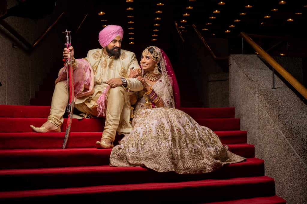 Sikh Indian bride and groom in Ottawa