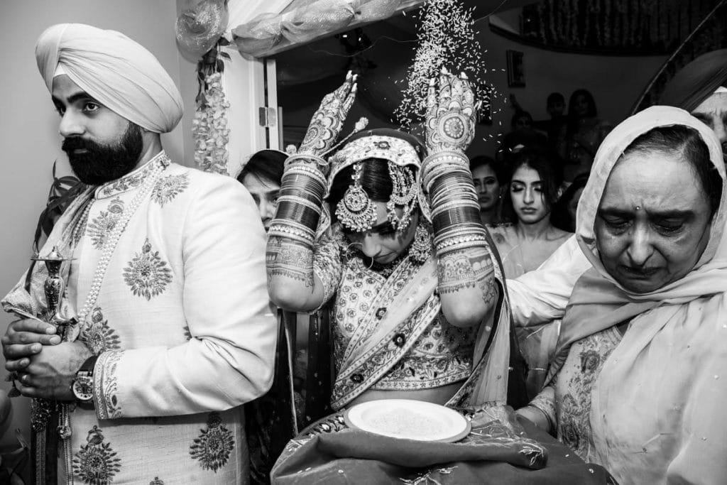 Indian bride at her doli