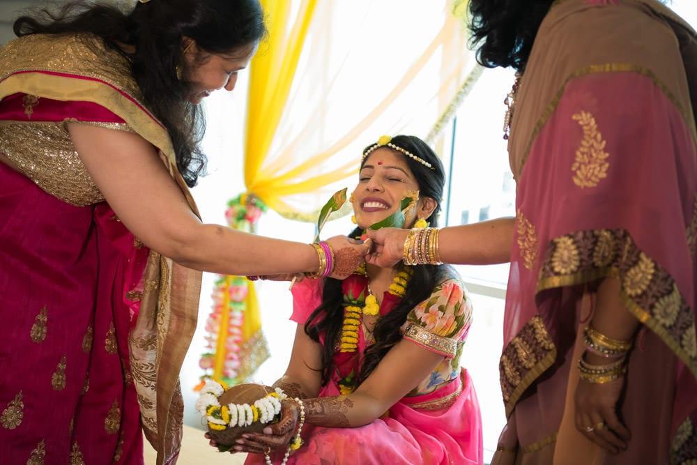 Gujarati vidhi ceremony Toronto Canada Pithi