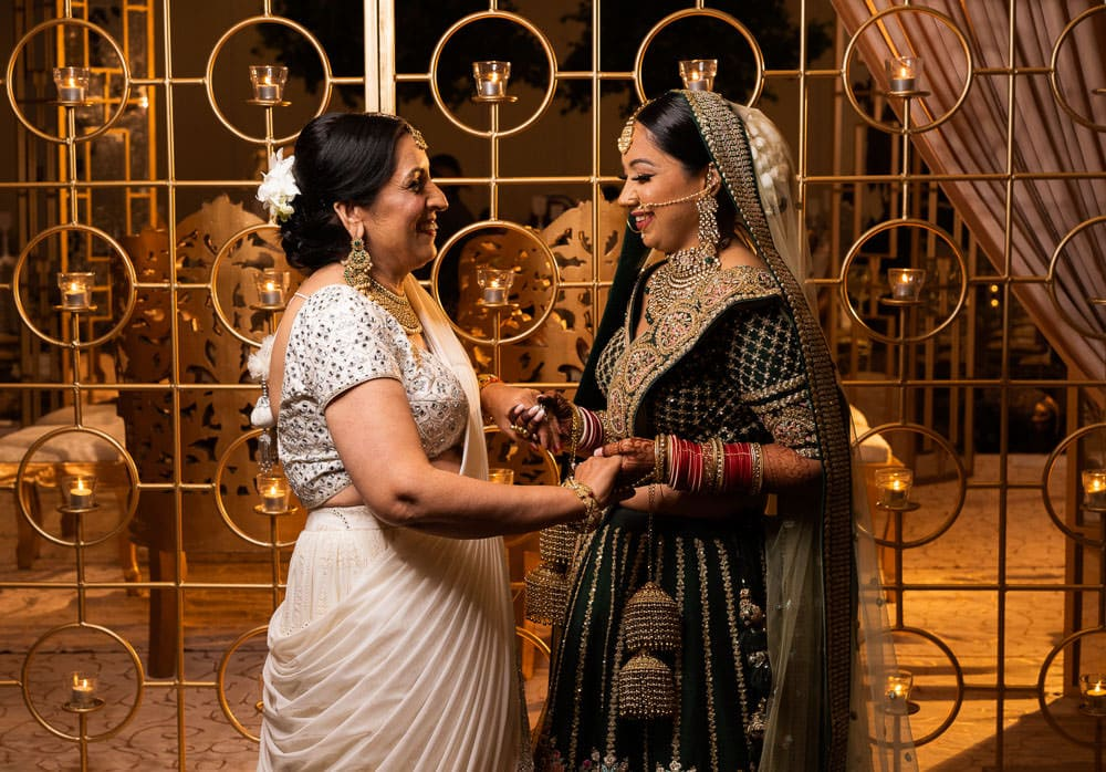 Indian bride and her mother