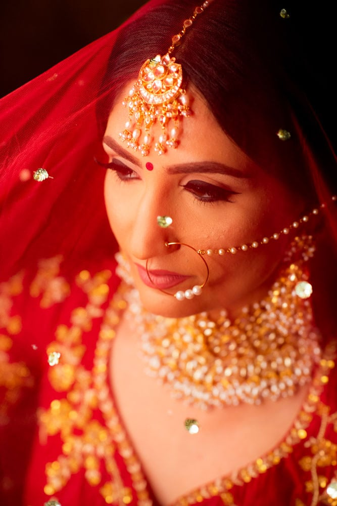 Indian Bride in red lehenga
