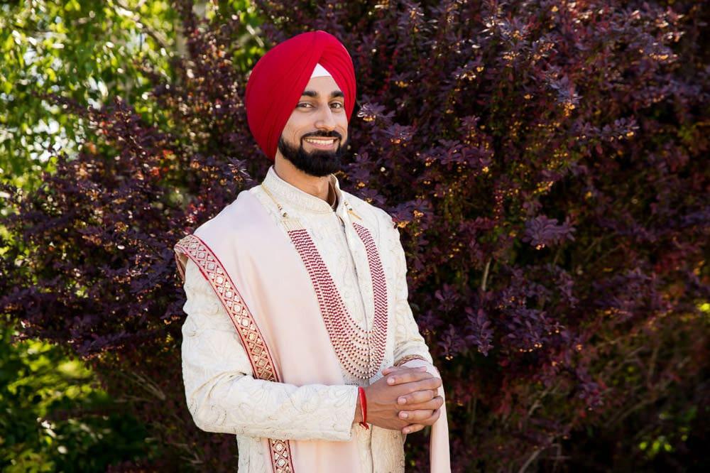 Outdoor Indian Wedding in Toronto Groom photo