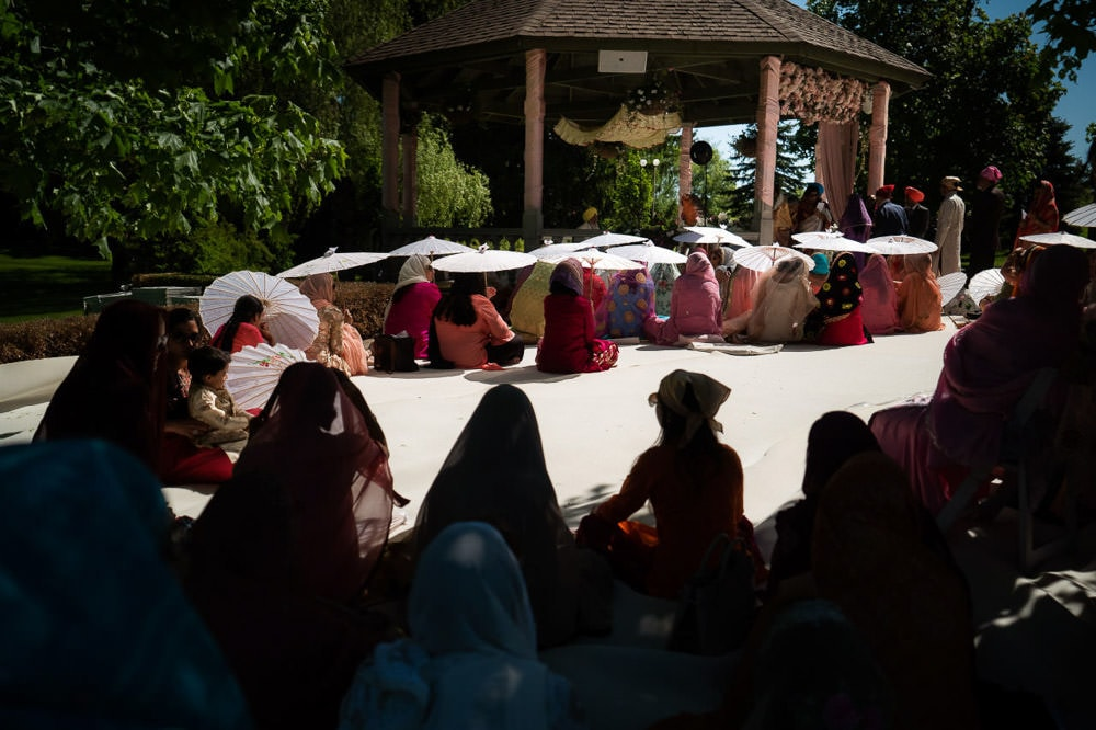 Guest Seating for an Outdoor Sikh Wedding Ceremony
