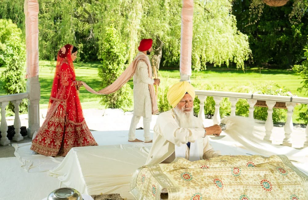 The Setup is an Absolute Must for Outdoor Sikh Ceremony