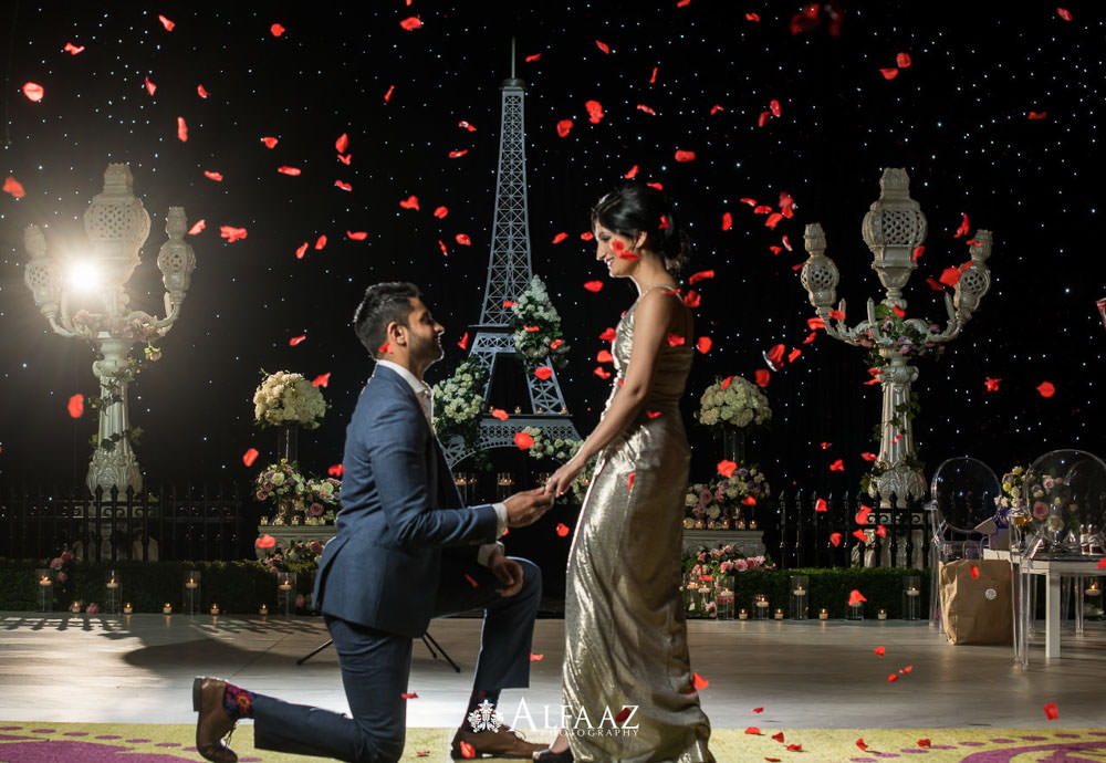 Starry Night in Paris Engagement shoot
