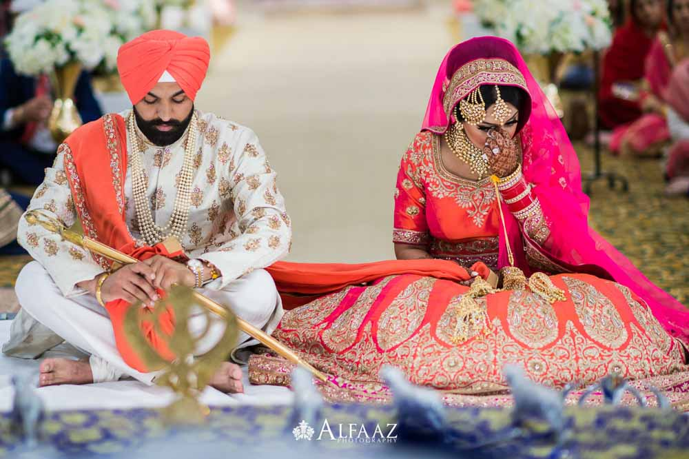 First look Sikh Wedding