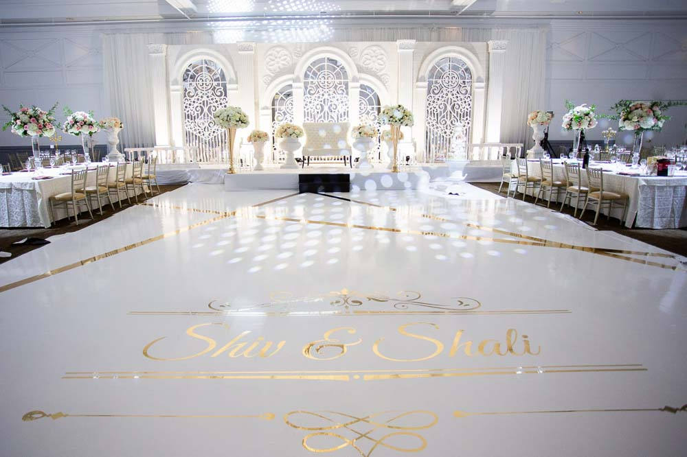 Bright and Airy Decor  at Embassy Grand Indian Reception