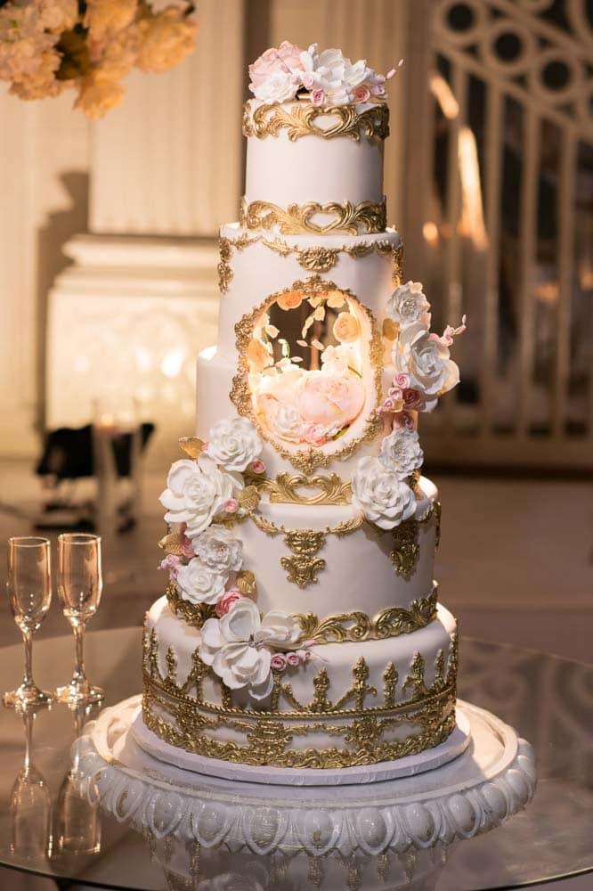 Wedding Cake at Embassy Grand Indian Reception