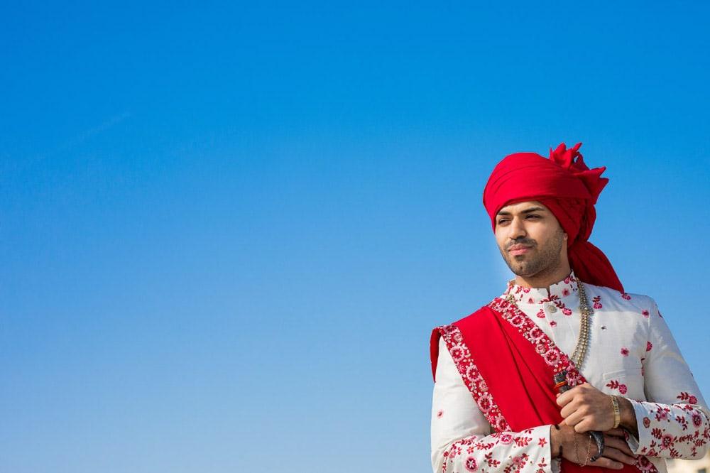 Indian groom at Hilton Head Indian Wedding