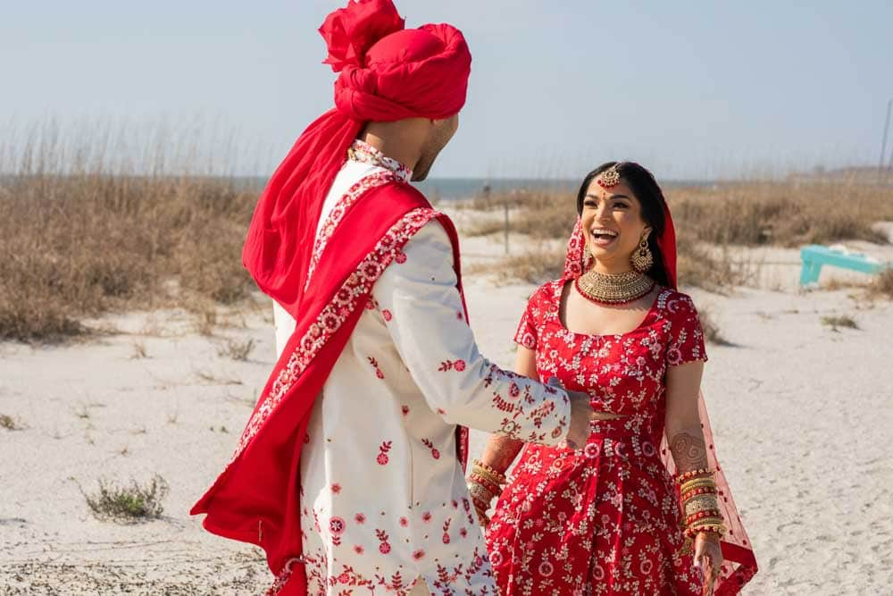 Indian couple at Hilton Head first look