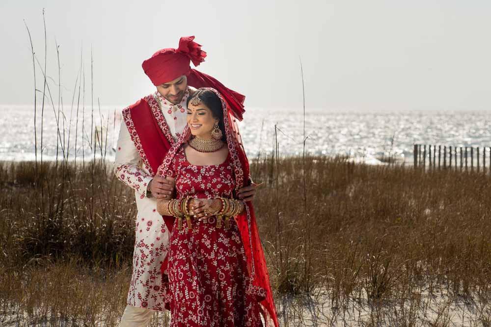 Modern Indian couple at Hilton Head Indian Wedding