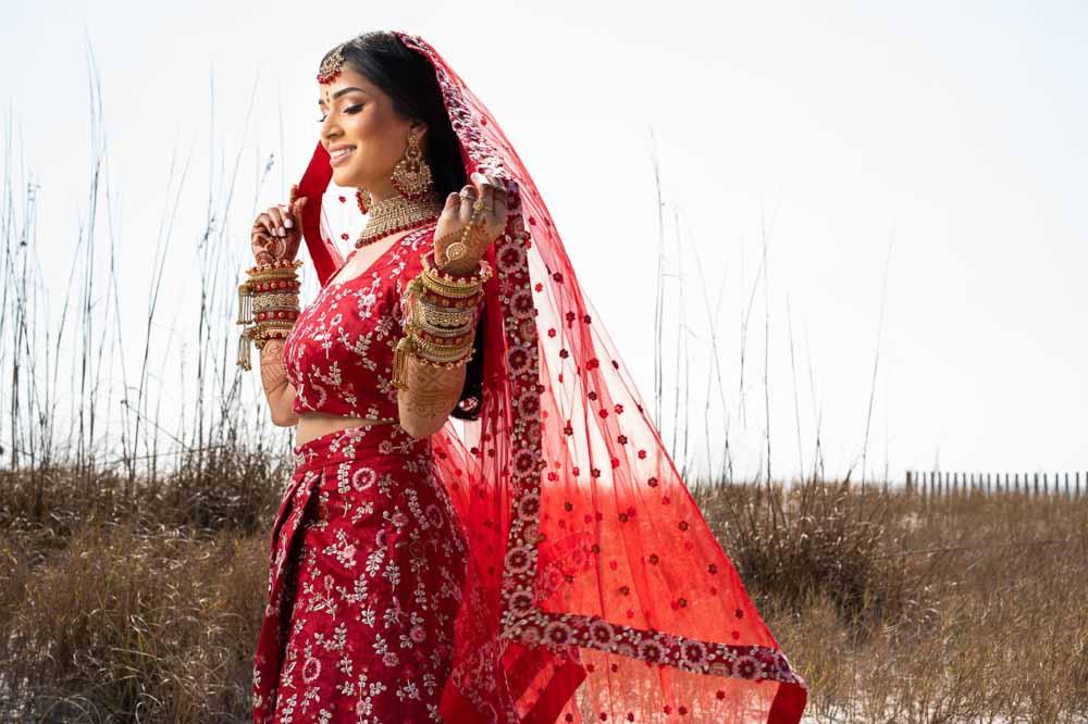 Modern Indian bride at Hilton Head Indian Wedding