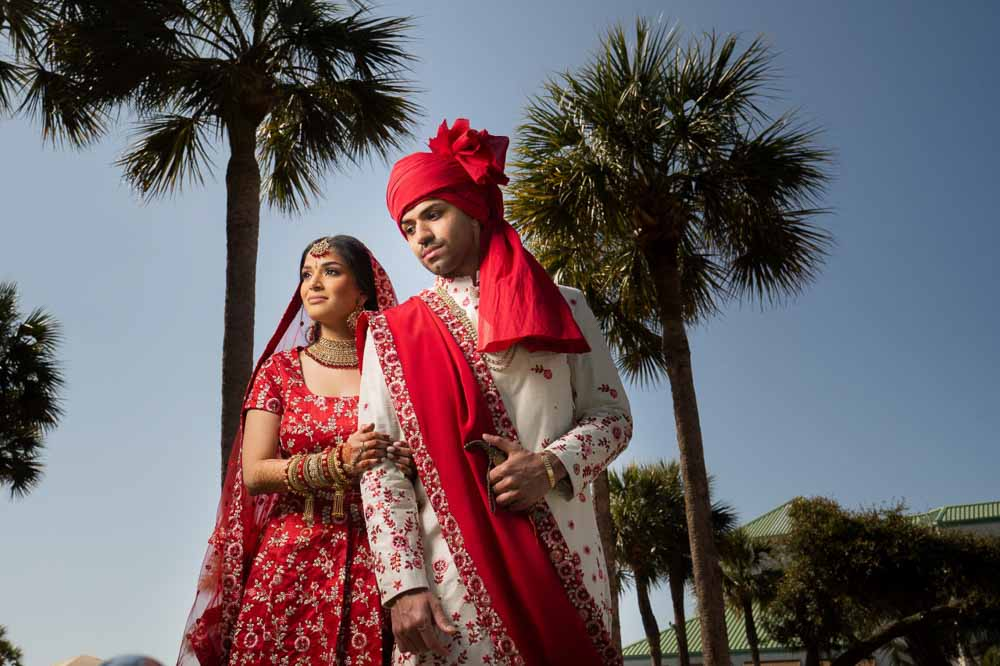 Modern Indian couple at Hilton Head Indian Wedding