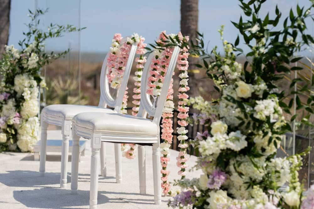 Mandap Wedding decor at Hilton Head Indian Wedding