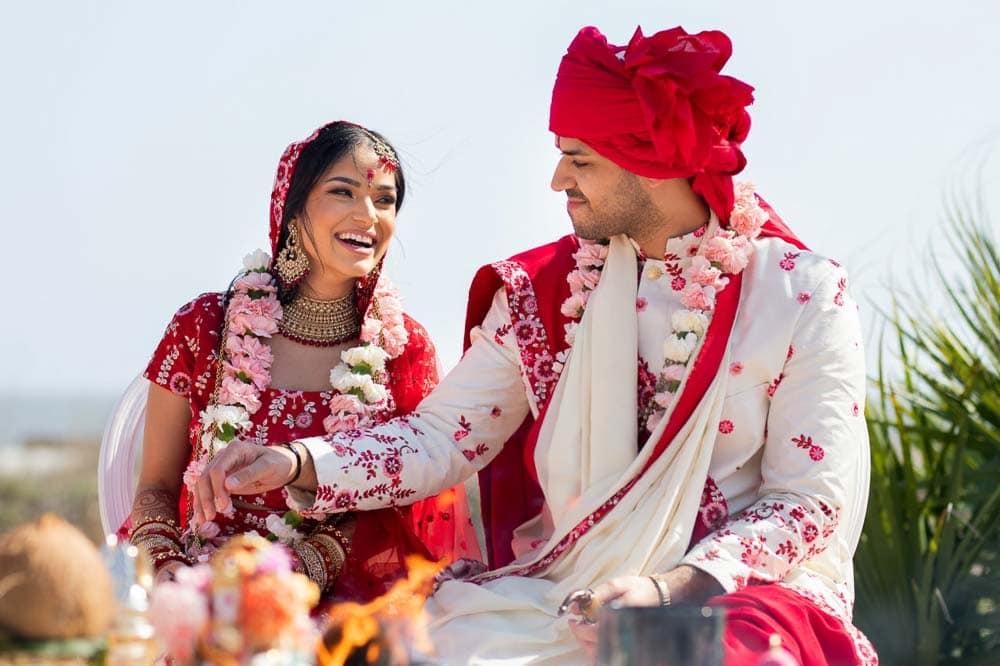 Gujarati Wedding ceremony at Beach Hilton Head Indian Wedding