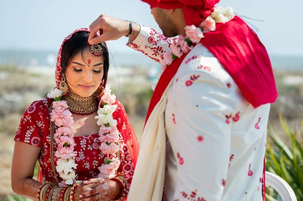 Sindoor ceremony at Hilton Head Indian Wedding