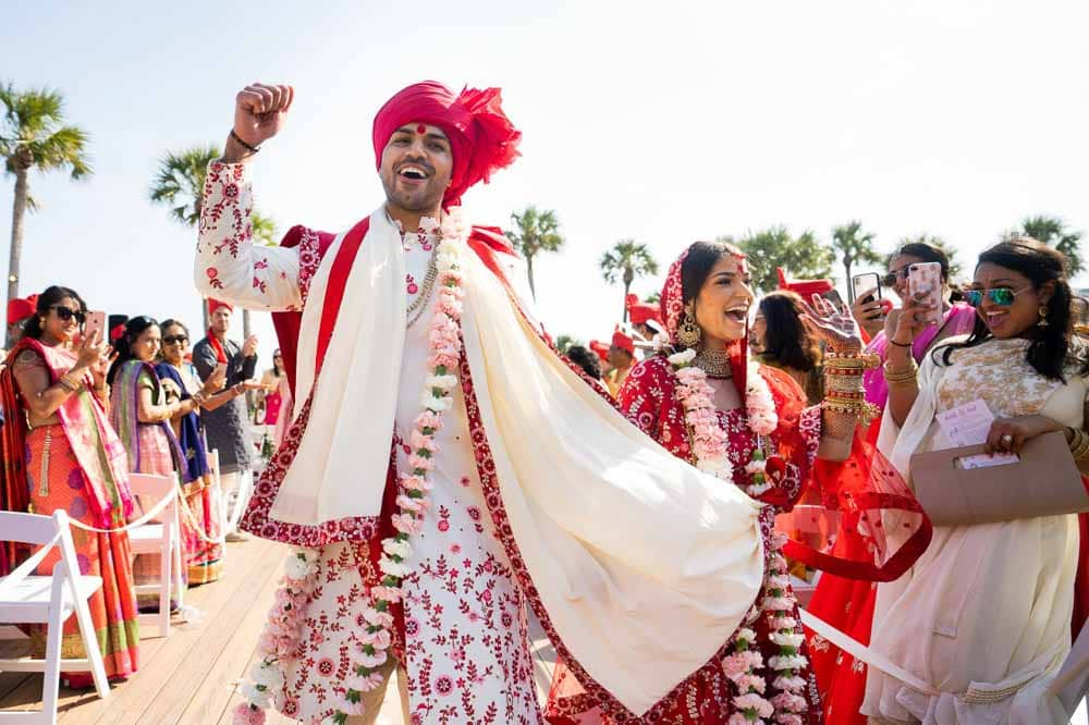 Newlyweds at Hilton Head Indian Wedding