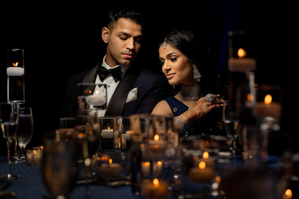 Modern Indian couple at Hilton Head Indian Wedding Reception
