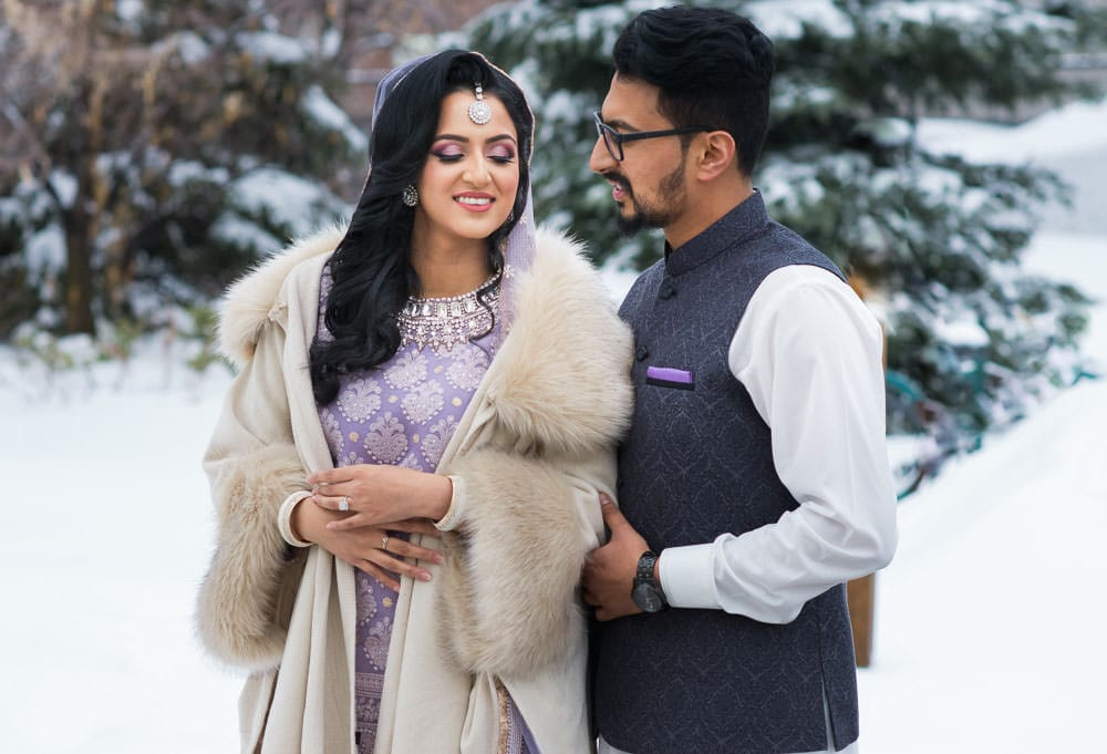 Couple photoshoot Indian Winter Wedding