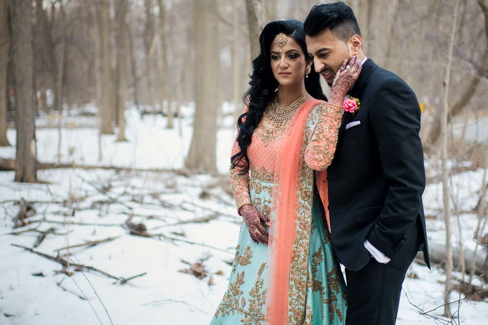 Indian Winter Wonderland Wedding