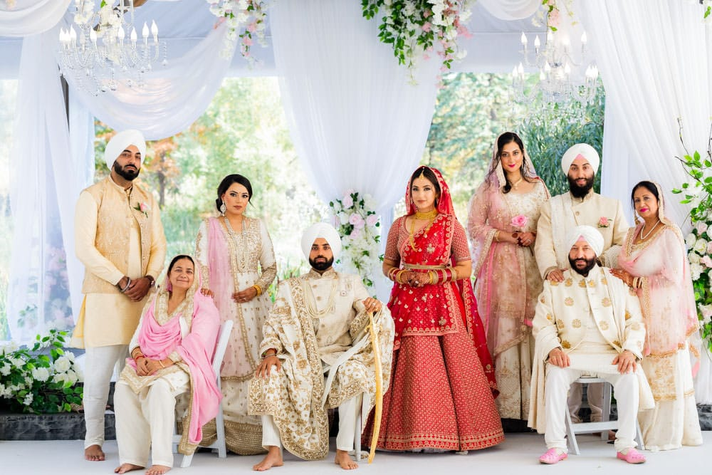 Sikh wedding family photos