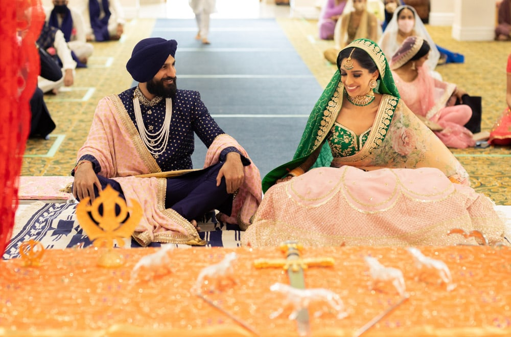 Sikh wedding first look