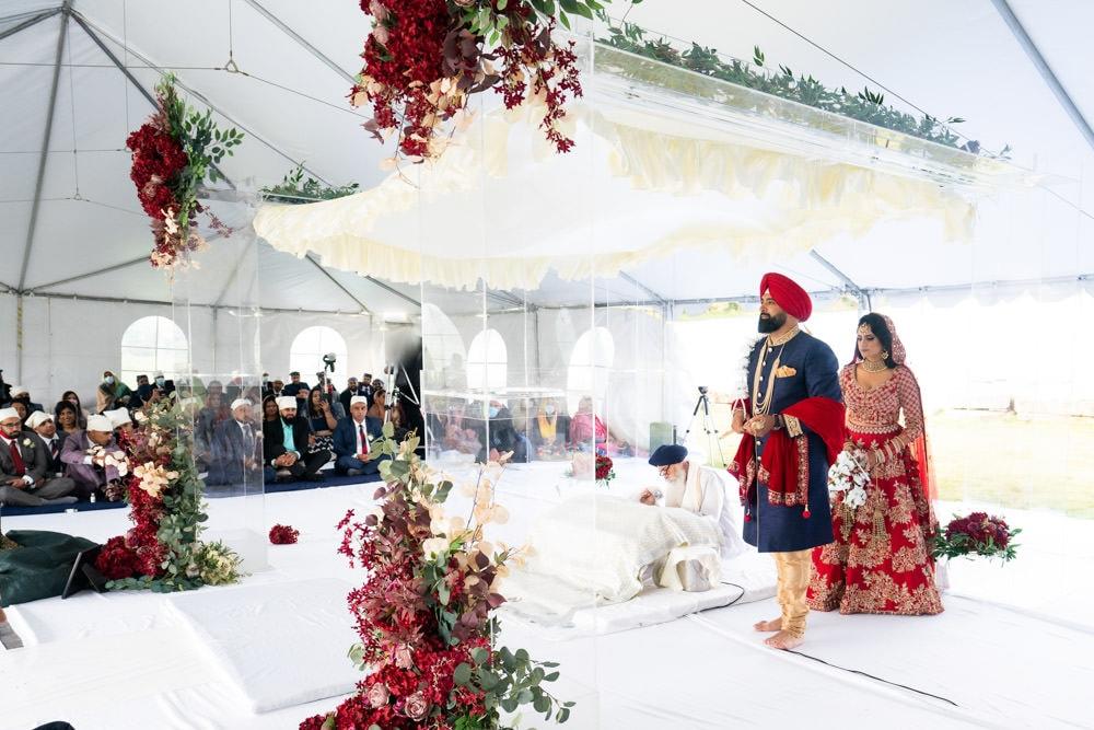 Tent wedding in Caledon brampton