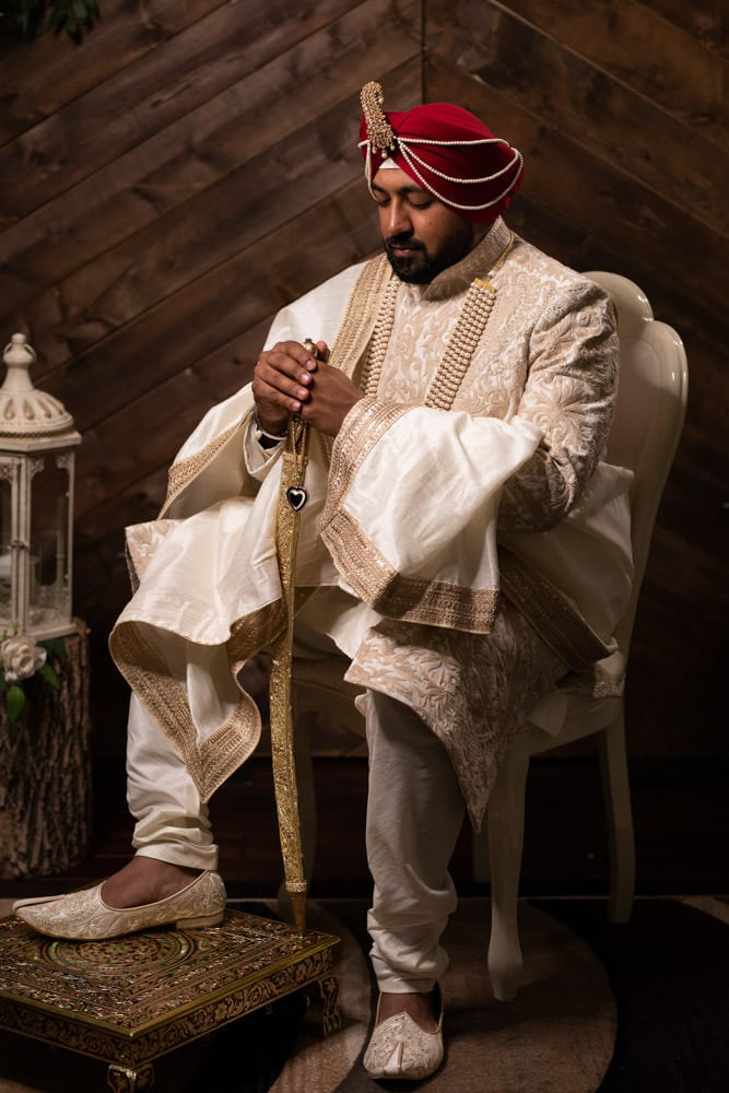 Groom at Caledon Country Club Indian Wedding